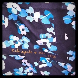 Kate Spade of NY deep blue floral scarf